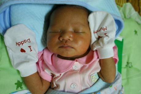 Safiyyah ketika umur 7 hari